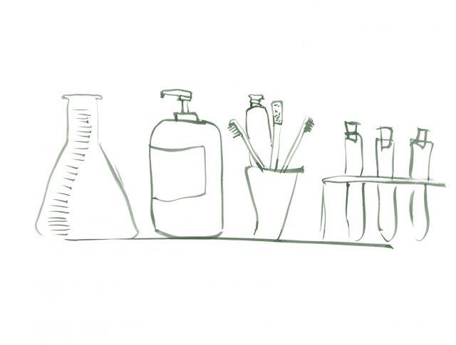 Raspall de dents entre material de laboratori