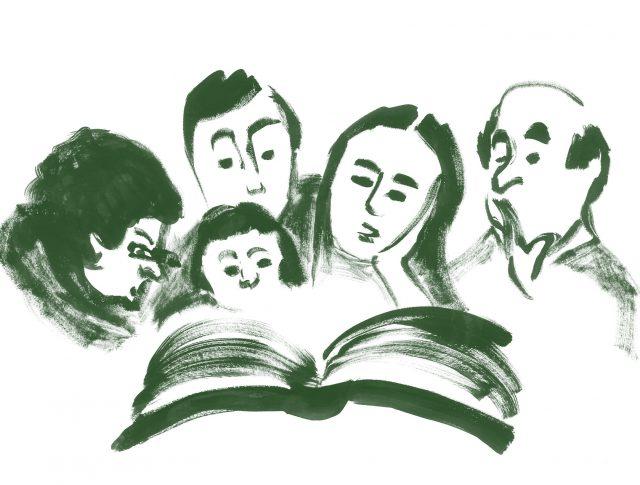 Persones llegint un llibre